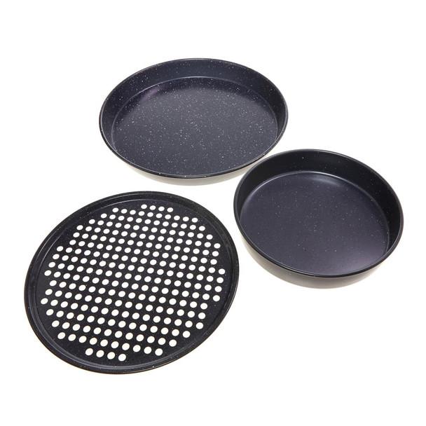 Curtis Stone Dura-Bake® 3-piece Pizza Pan Set