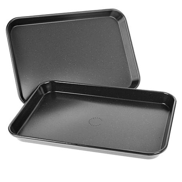 "Curtis Stone Dura-Bake Set of 2 9"" x 13"" Nonstick Sheet Pans Model 623953"