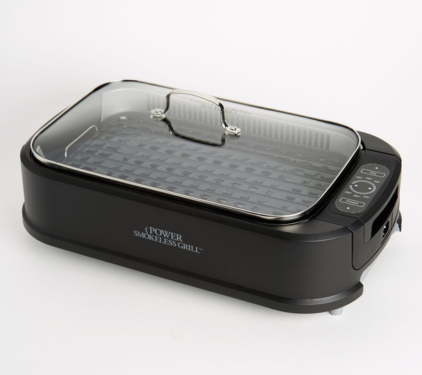 Power Smokeless Indoor Electric 1500W Grill w/ Griddle Plate  - REFURBISHED
