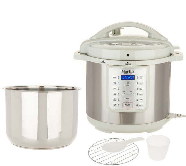 Martha Stewart 8-qt 7-in-1 Digital Stainless Steel Pressure Cooker Model K48342