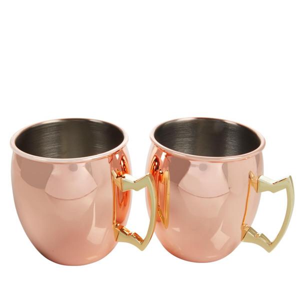 Wolfgang Puck Set of 2 18oz. Copper-Plated Mule Mugs Model 679-688