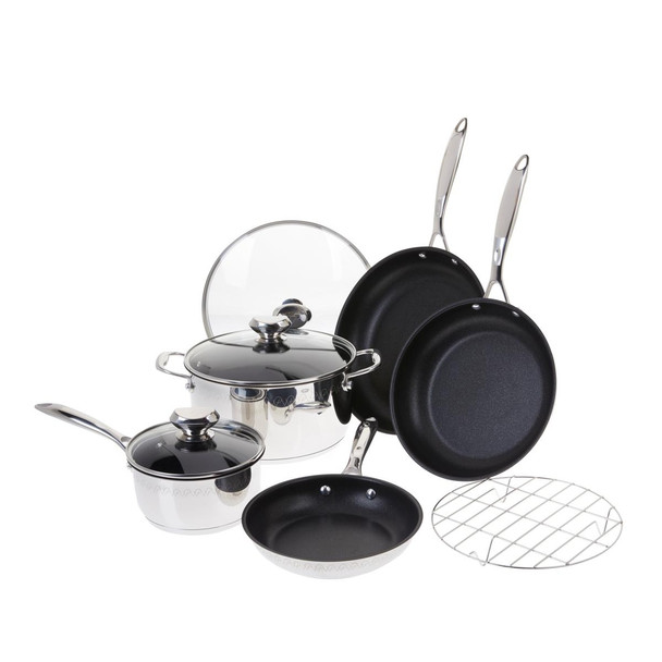 Wolfgang Puck Plasma Elite 9-piece Stainless Steel Cookware Set Model 673-940