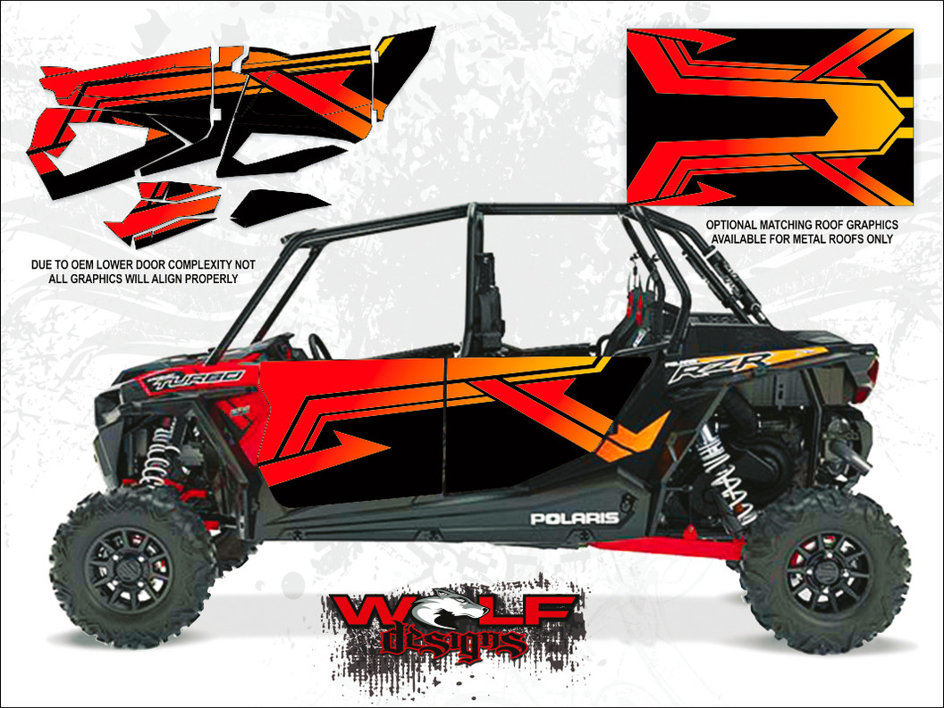 Polaris Rzr Xp4 Turbo 2017 Cruiser Black Utv Door Kit