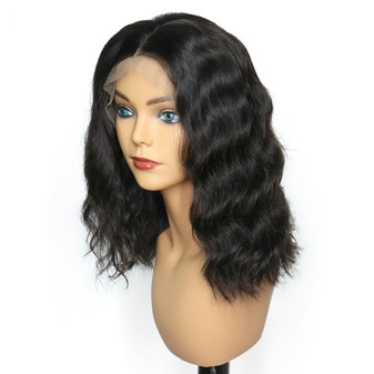 Water Wave Lace Front Pre-Plucked Bob Wig with Baby Hairs