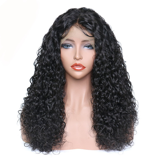 Curly Wave Lace Front Pre-Plucked Single Knot Wig with Baby Hairs