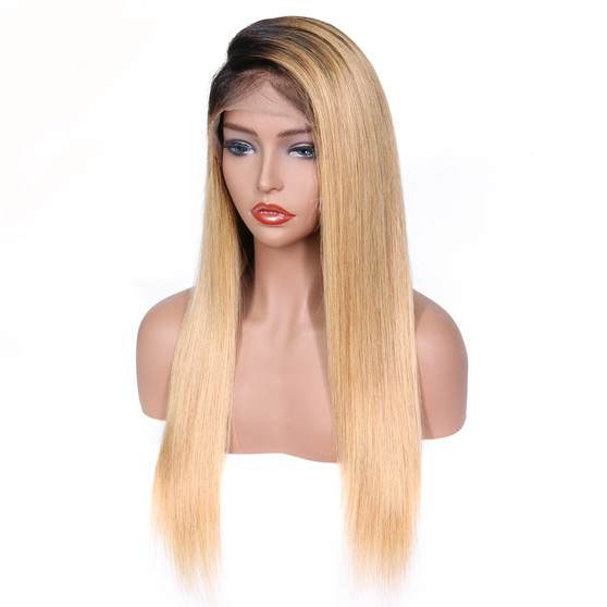 Straight Lace Front Pre-Plucked Wig with Baby Hairs Honeydrop Ombre