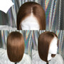 Straight Lace Front Pre-Plucked Bob Wig Auburn Brown