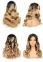 Custom Made Lace Front Pre-Plucked Wig with Baby Hairs, Ombre 1B/27