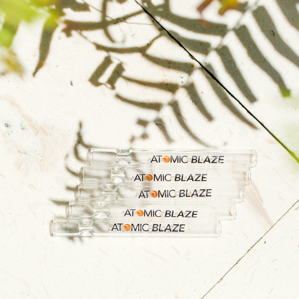 one hitter glass pipe from Atomic Blaze