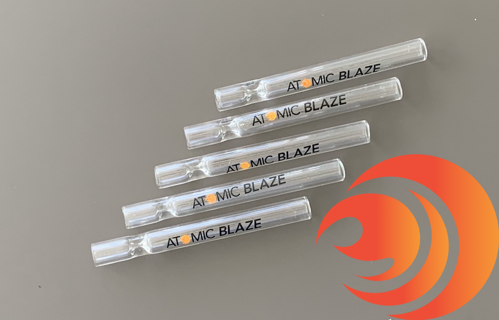 The Atomic Blaze Smoke Shop 5-Pack of Chillums is full of clear glass pipes for easy, discreet smoking on the go.