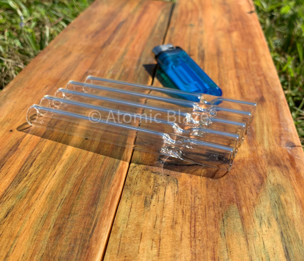 Save big when you buy in bulk at Atomic Blaze Smoke Shop Online with these clear glass pipe onhitters.