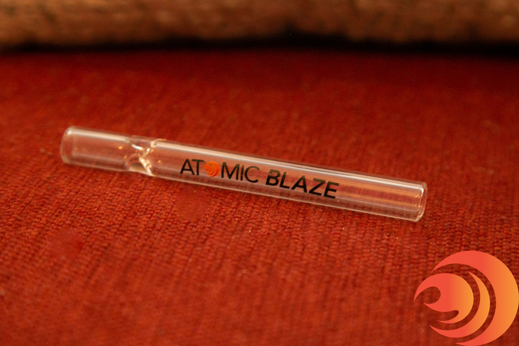 You'll get a great Atomic Blaze Online Smoke Shop branded one-hitter pipe with your Deluxe Glass Pipes Bundle.