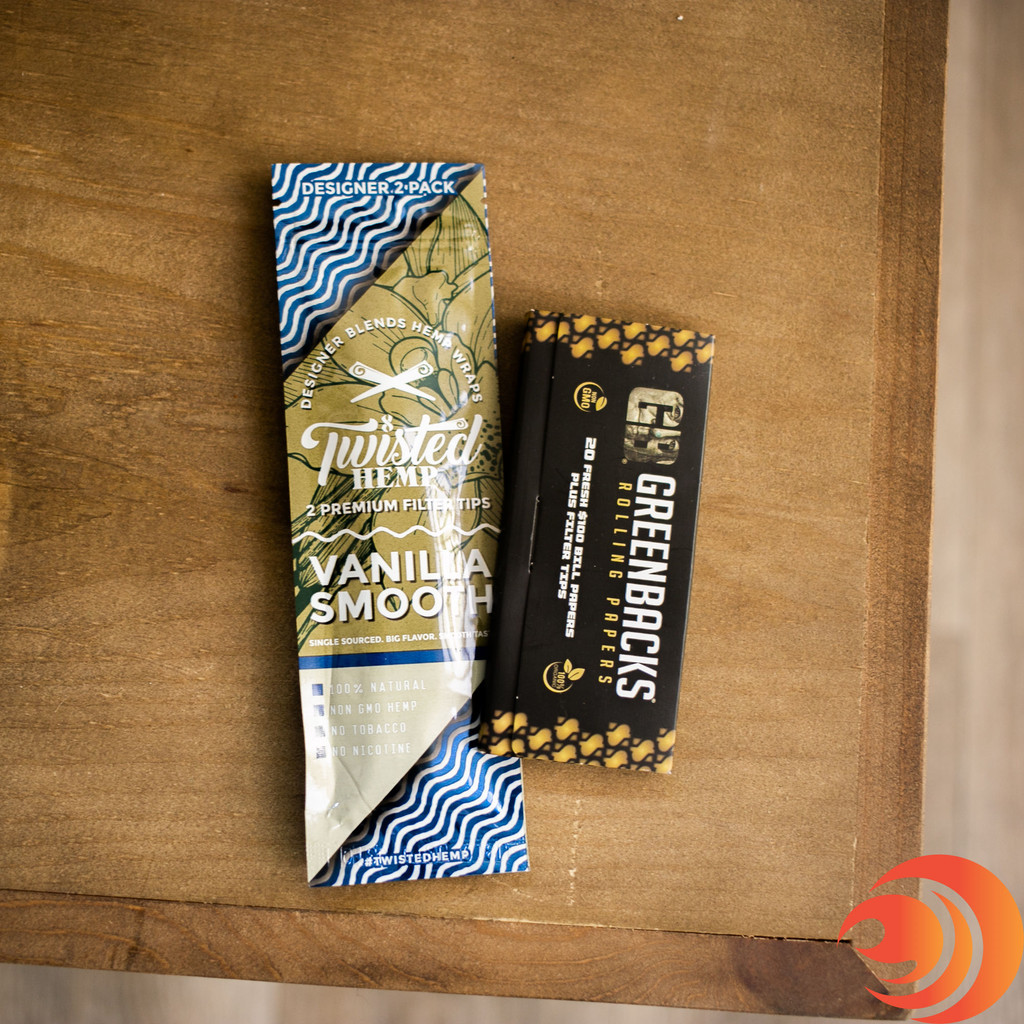 The Blazers Box caters to you! If you feel like using some rolling papers, you get Twisted Hemp wraps & Greenbacks included.