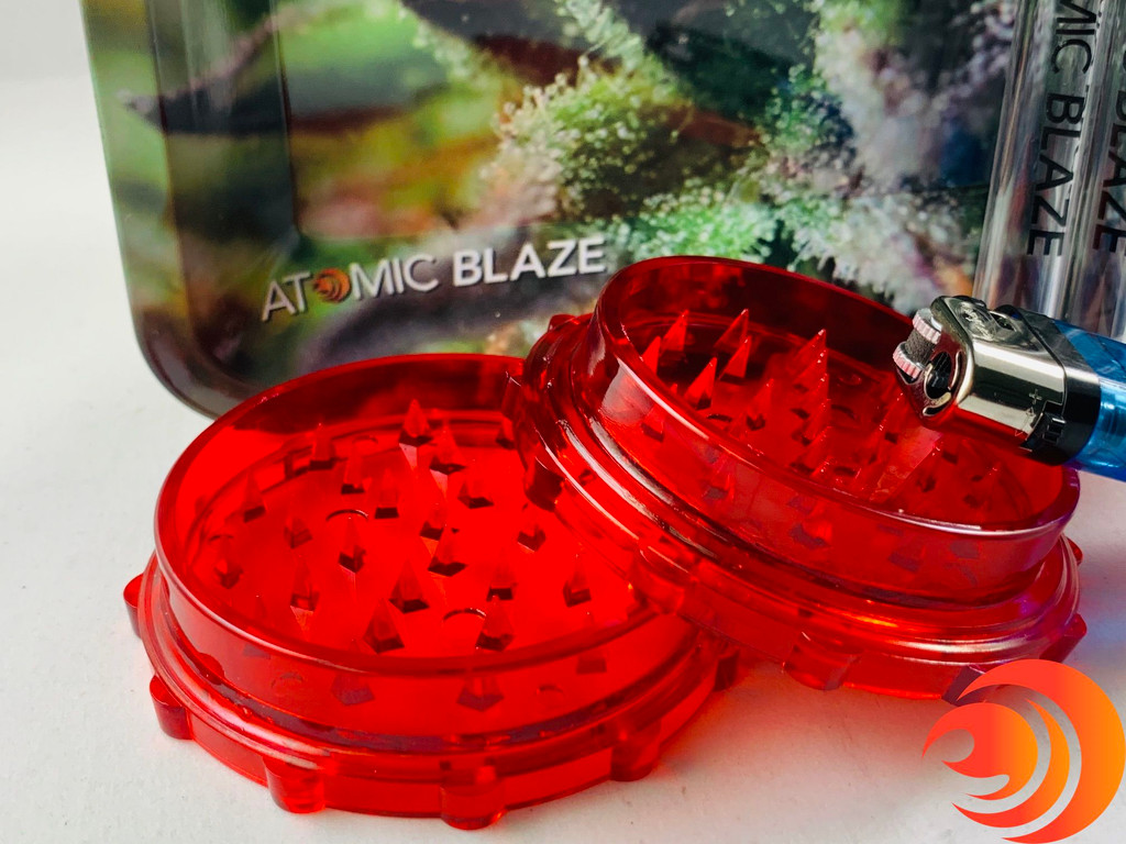 If you can't find your grinder or lighter, they're included in this bundle from Atomic Blaze headshop.