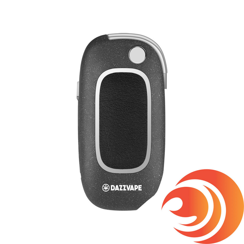 This red vape battery from Dazz Vape is discreet, has variable voltage and is shaped like a key-fob.