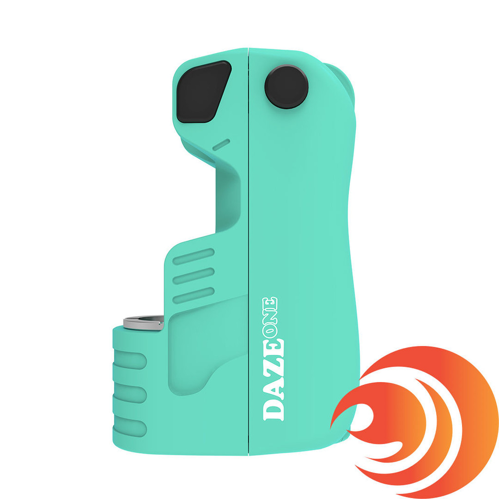 This aqua blue discreet Daze One vape battery can fit all 510 thread cartridges, and pre-heat in 10 seconds.