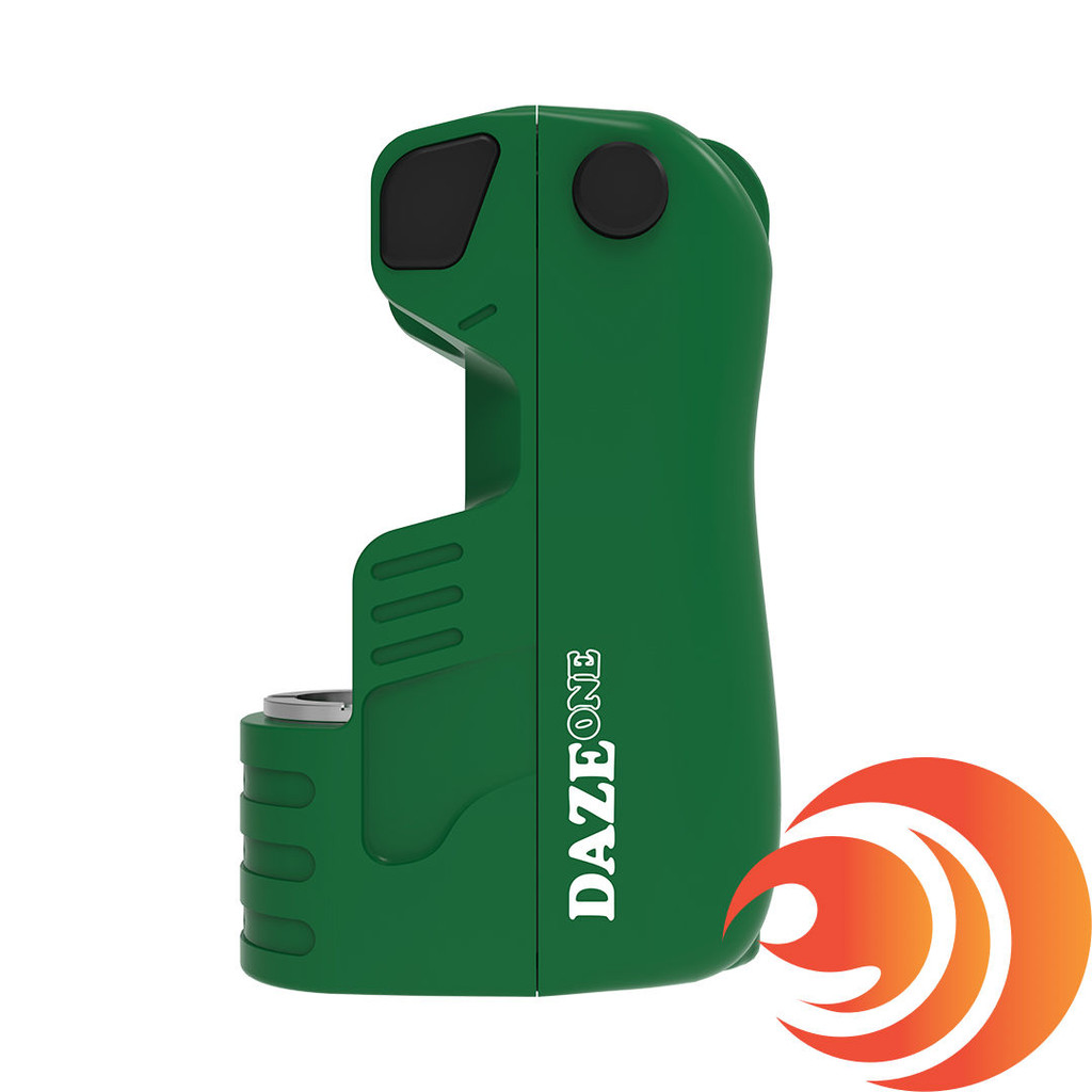 This green Daze One is one of many premium mini vape batteries Atomic Blaze online head shop carries.