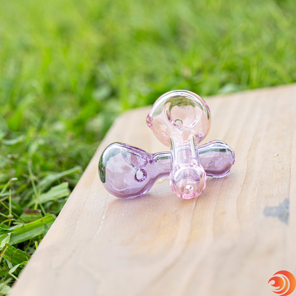 The petite size of these glass bowls from Atomic Blaze head shop, feel great in the palm of your hand.