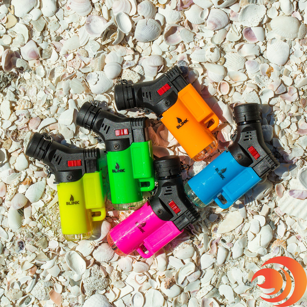 The Blink Torch Neon Lites Mini Torch Lighter is available in five colors in the Atomic Blaze online smoke shop.