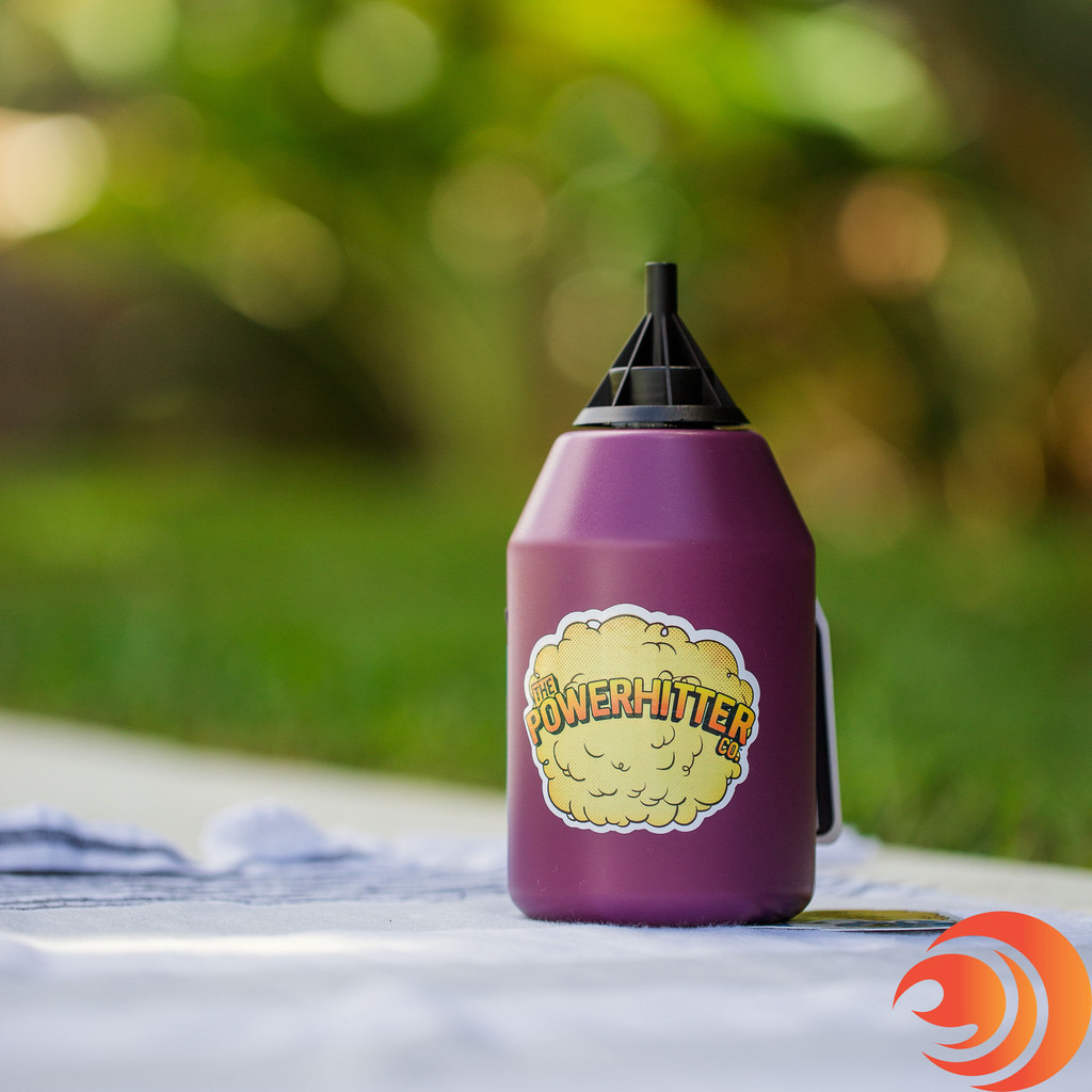 The Atomic PowerHitter Bundle comes with a PowerHitter purple squeeze bottle gives you the largest hit that never touches your lips.
