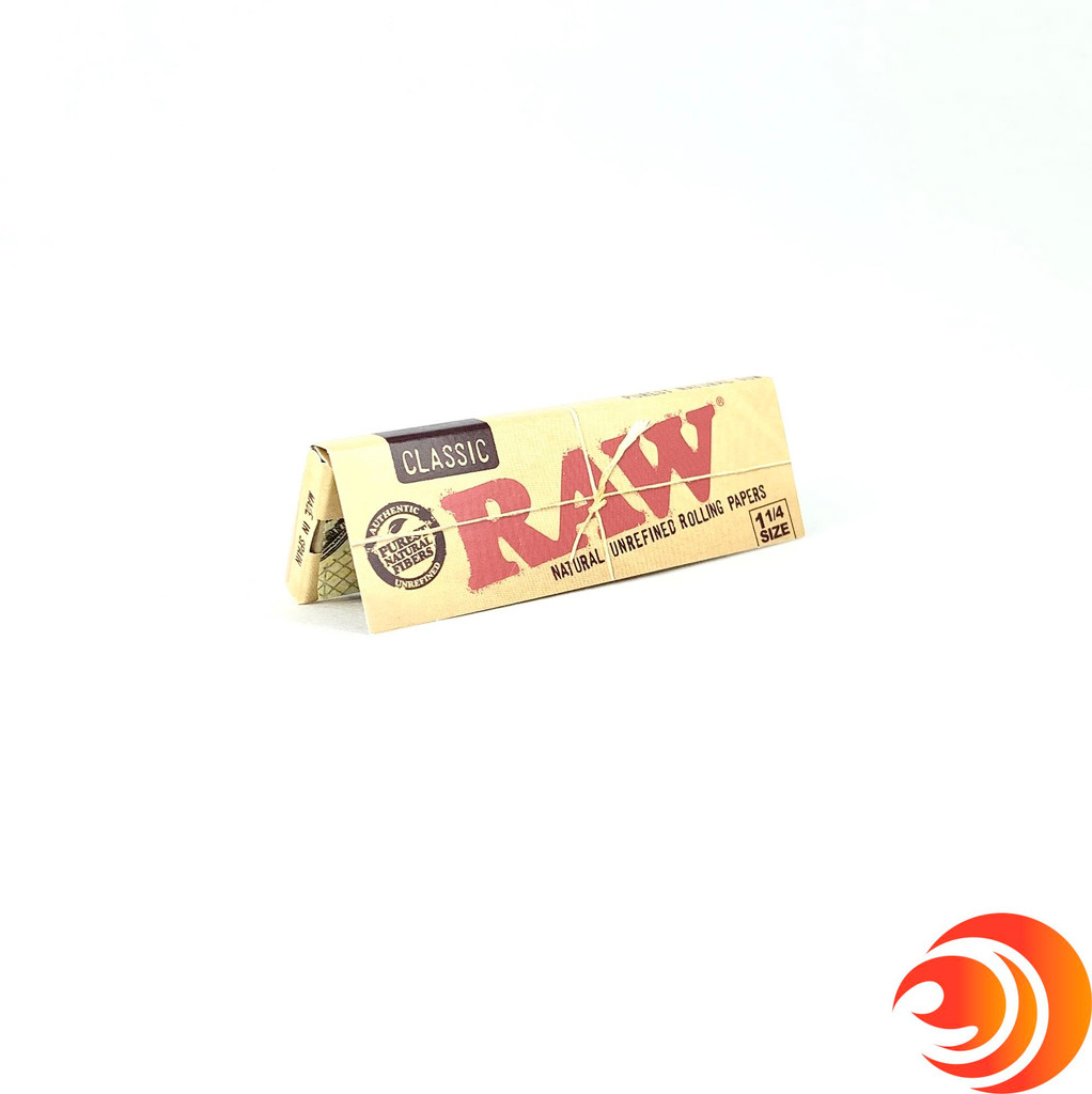 RAW Classic 1.25 inch Rolling Papers at Atomic Blaze Online Smoke Shop, make this every-day smoker's staple a slow pleasure to burn your tobacco.