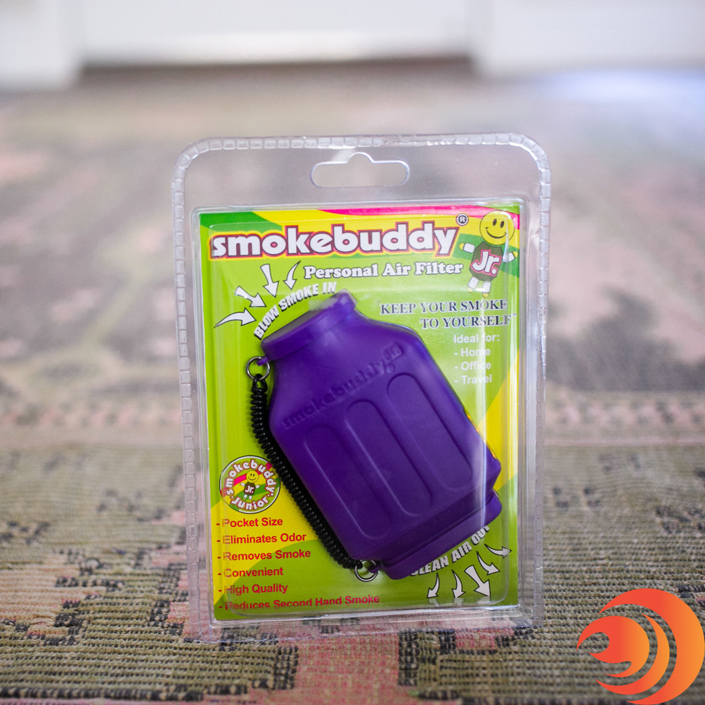 On our online headshop you can get the Smoke Buddy in purple, yellow, and black.