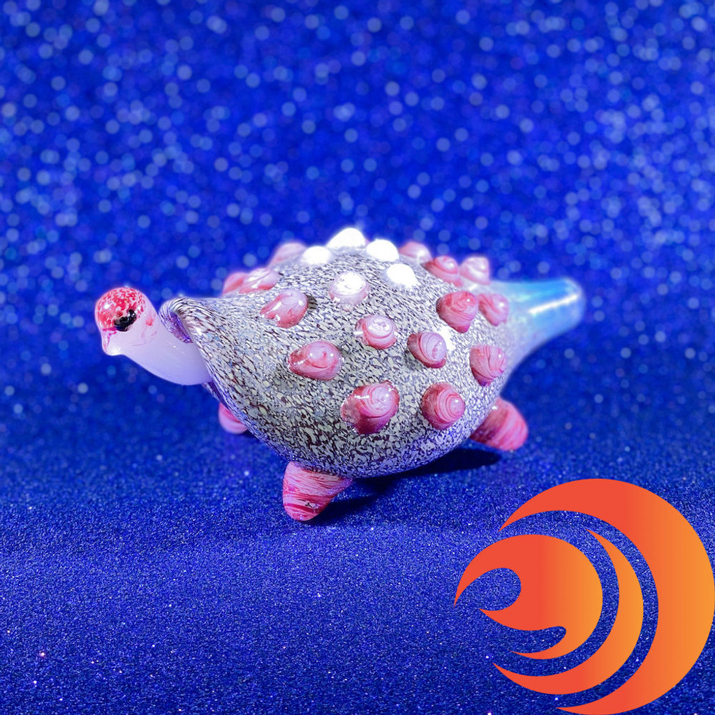 """Take a few hits from this 4"""" glass turtle pipe and you'll feel like you can see into outer space!"""