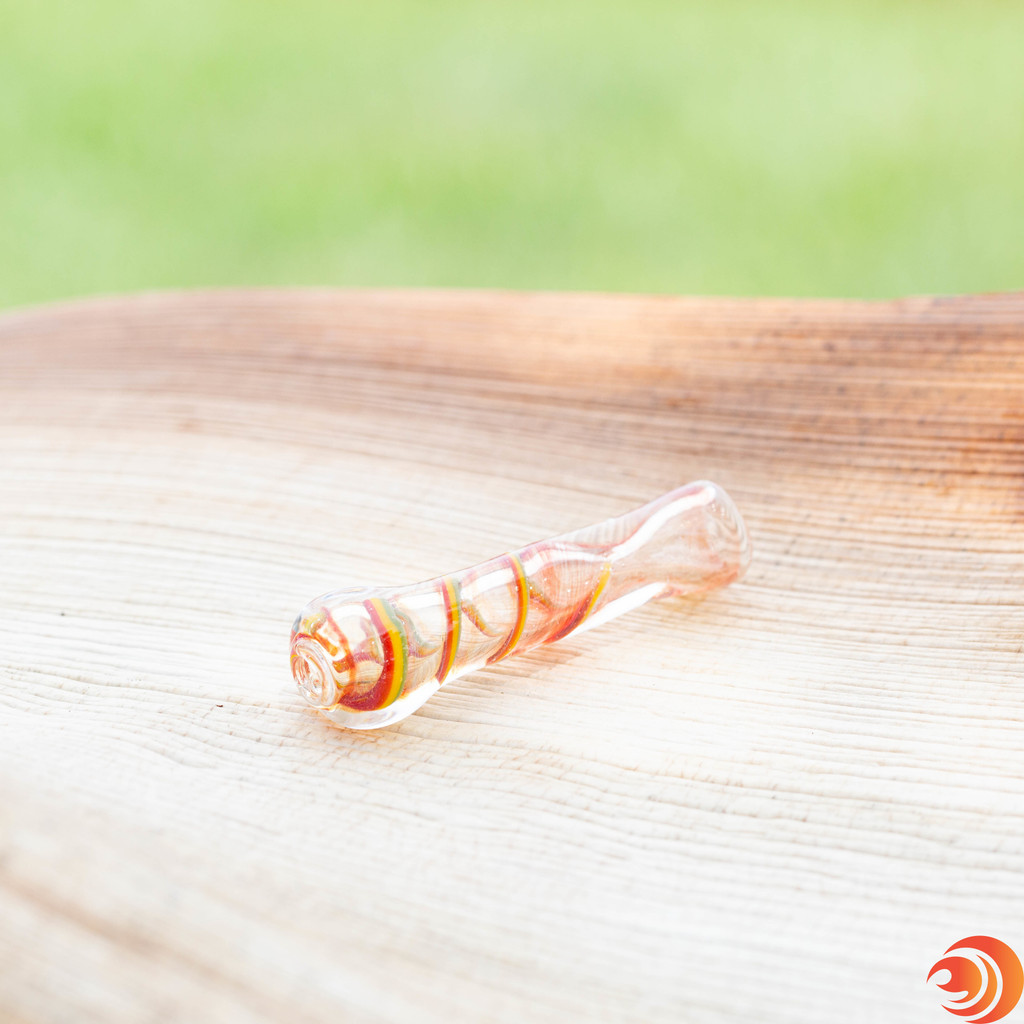 Buy swirl designed glass one hitter pipes from Atomic Blaze for the lowest prices on chillum pipes. Shipped fast from Florida.