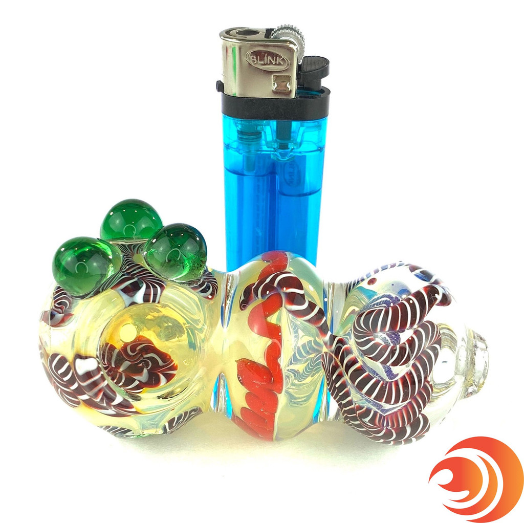 """This heavy 3"""" pipe is the perfect gift for smokers from Atomic Blaze Online Head Shop."""