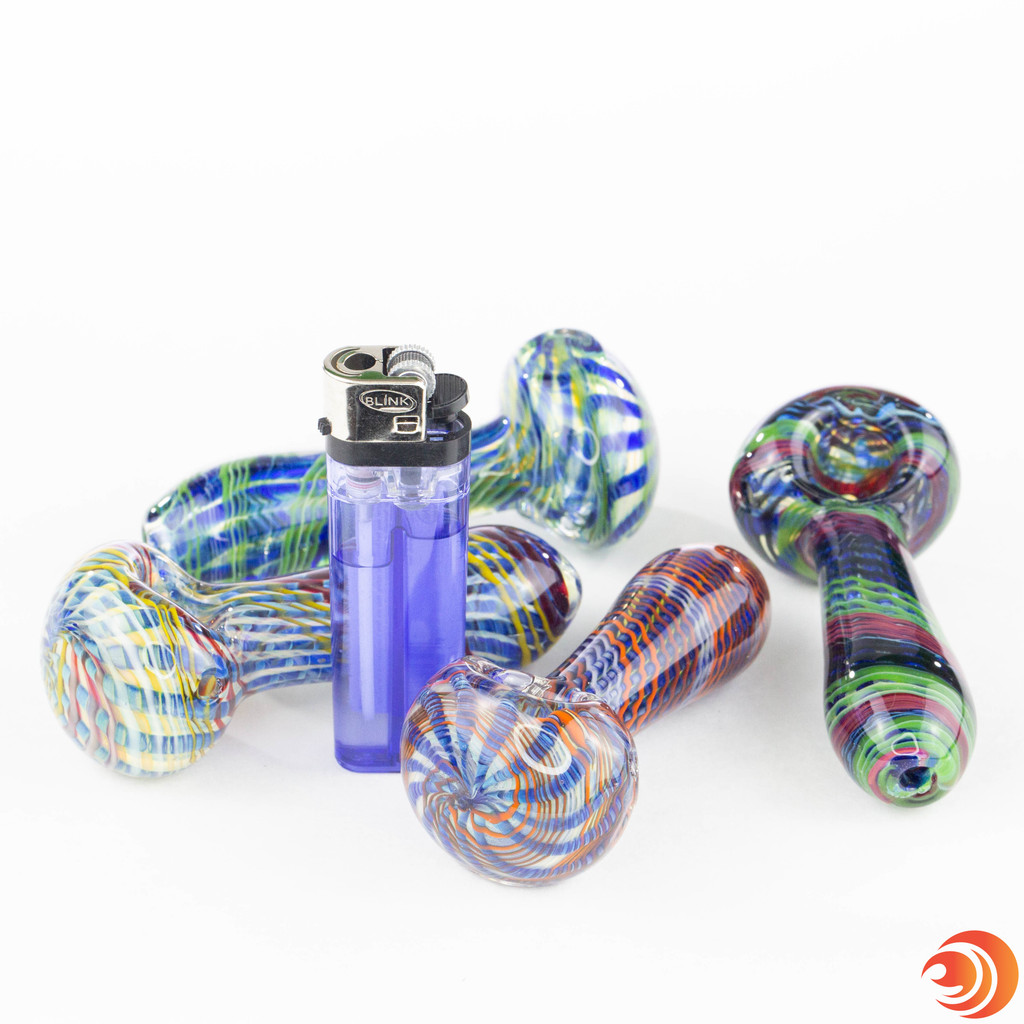 The web-patterned glass is durable and the affordable price at AtomicBlaze Online Head Shop in Sarasota, FL is just right.