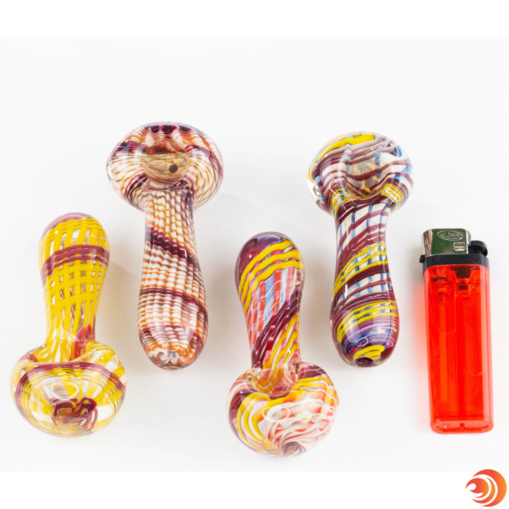 These glass pipes for smoking from Atomic Blaze Online Smoke Shop are equipped with an easy-to-access carb and deep bowl.