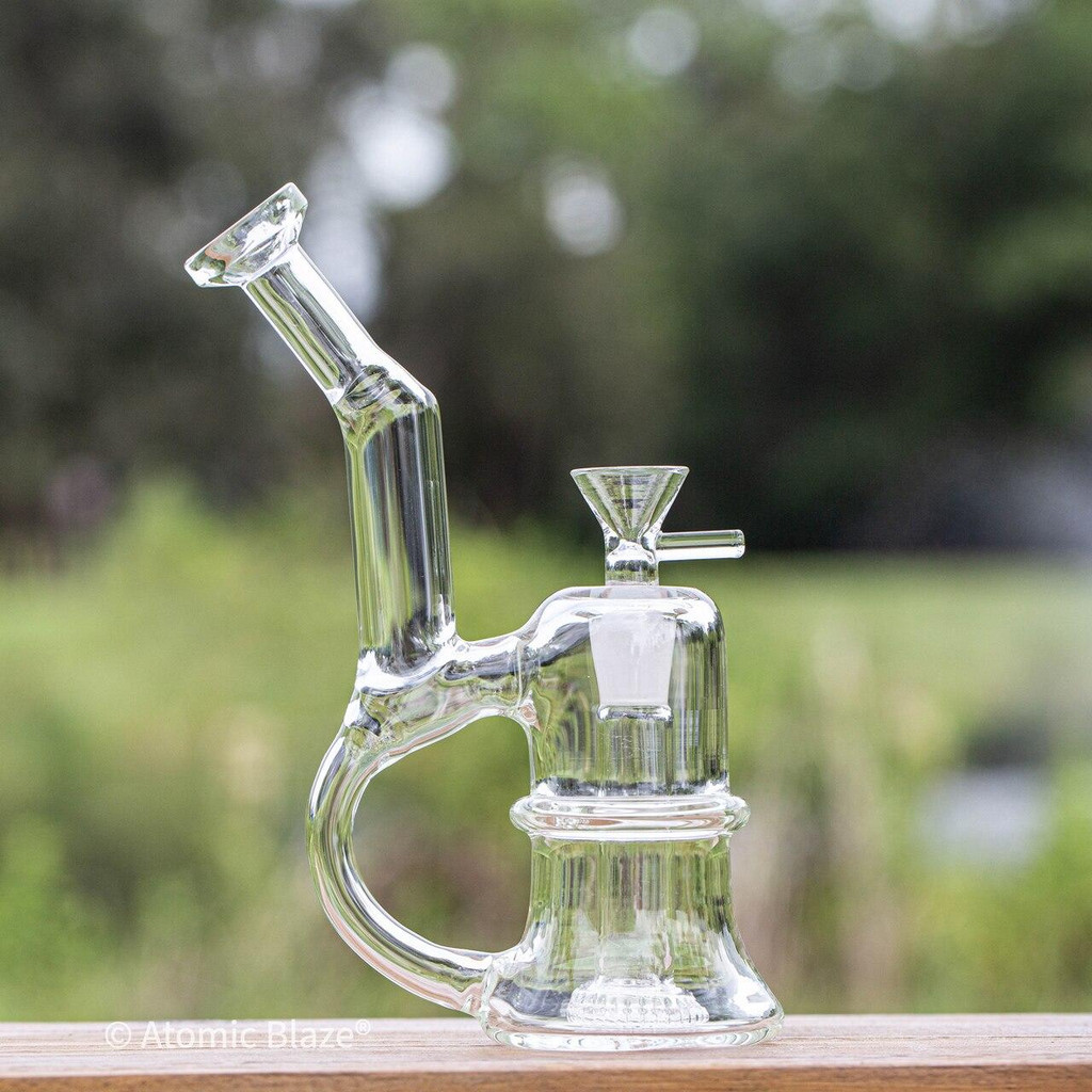 Sale on a 7 Clear Bong w/Handle from AtomicBlaze Headshop and we always have the cheapest glass pipes and bongs and free shipping promos