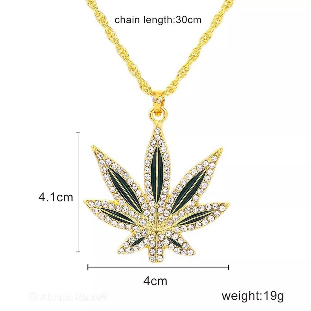 Sale on a Blinged Out Leaf Chain Necklaces from AtomicBlaze Headshop and we always have the cheapest glass pipes and bongs and free shipping promos