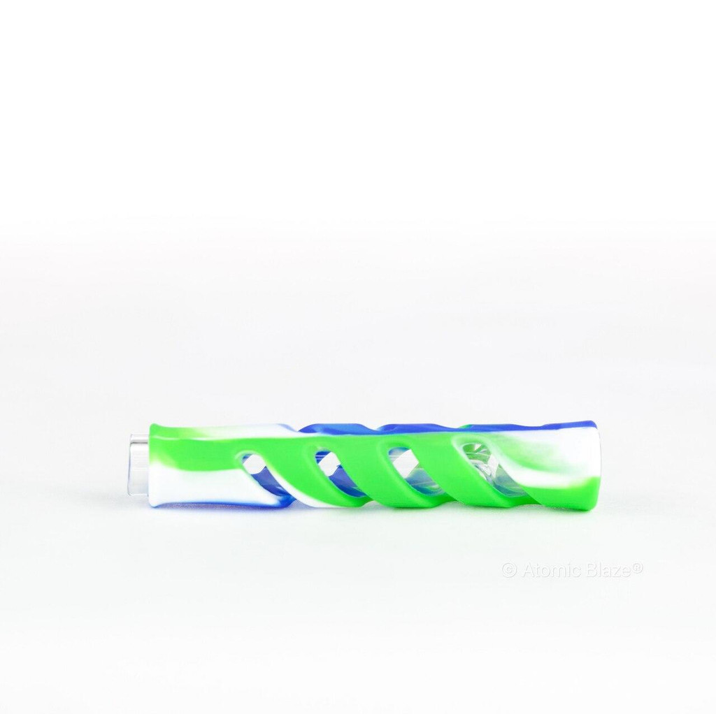 Sale on a Silicone Wrapped Chillum Pipe from AtomicBlaze Headshop and we always have the cheapest glass pipes and bongs and free shipping promos