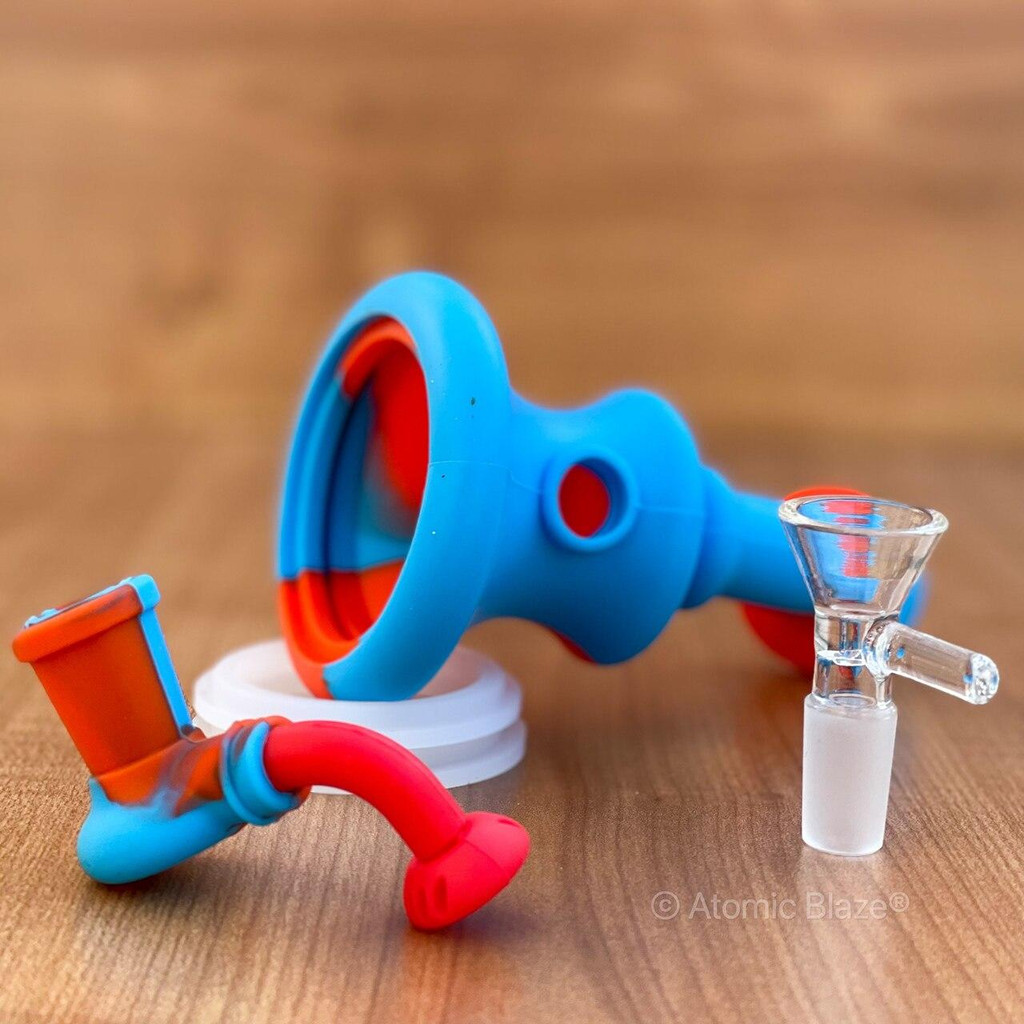 Sale on a Silicone Banger Hanger Bong from AtomicBlaze Headshop and we always have the cheapest glass pipes and bongs and free shipping promos