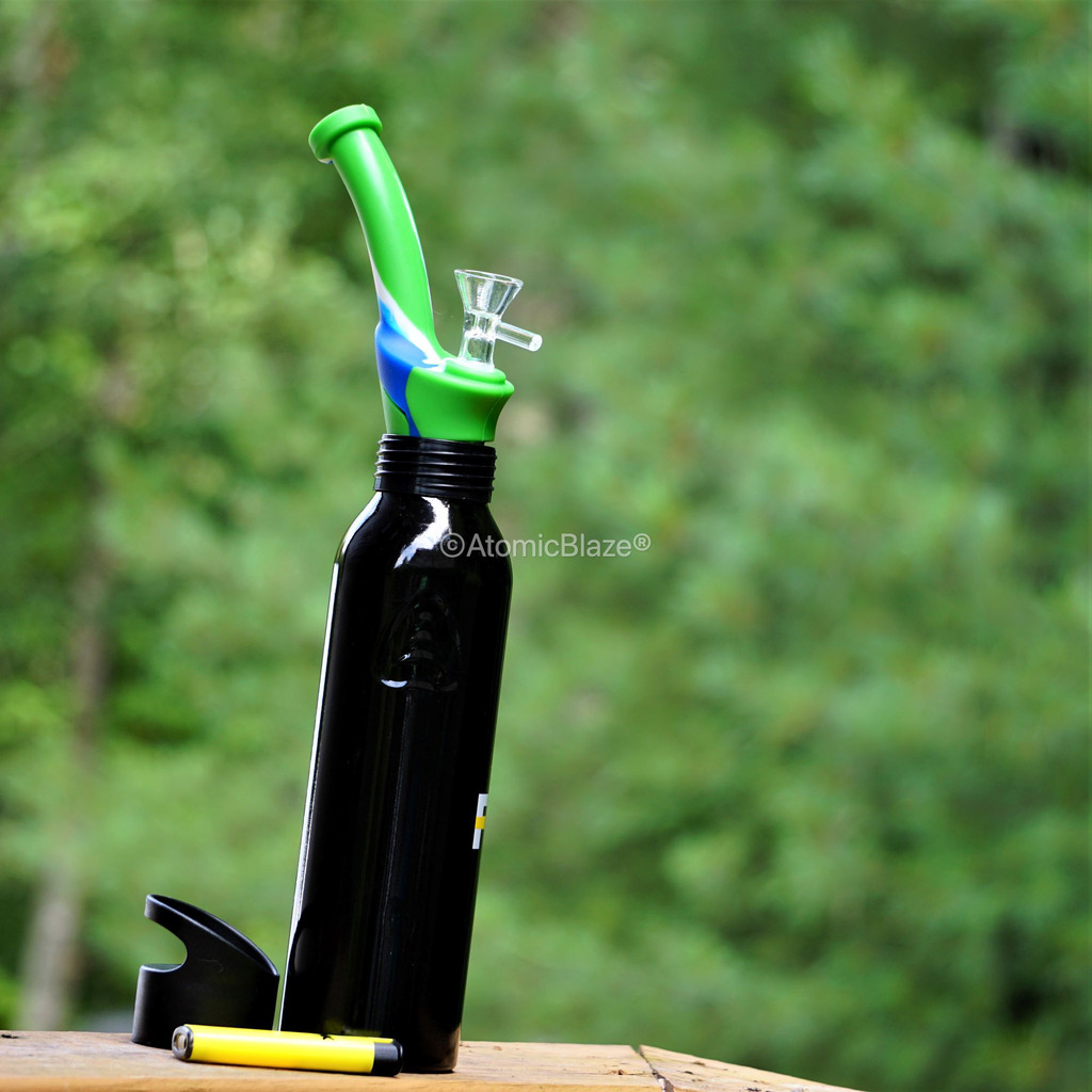 Atomic Blaze Online Smoke Shop has Silicone Bottle Bong Topper that simply slide in the top of a bottle and you are ready to smoke.