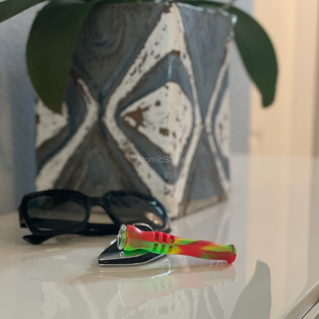 Get a Silicone Keychain One Hitter Pipes from Atomic Blaze Online Smoke Shop in Green Camo