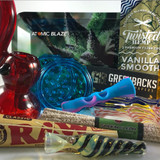 A smoking subscription box curated by the fine people at Me Time Box Products for Atomic Blaze Online Smokeshop