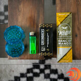 The best gift for a roll 'em up and light 'em smoker is a grinder, lighter, flavored wrap, and $100 bill rolling papers from AtomicBlaze Smoke Shop.
