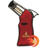 If you enjoy taking hits of your dab outdoors, this red torch lighter is windproof .