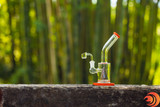 The pyramid designed glass dab rig with red trim delivers the best smoking experience for just under $50 with Free Shipping from Atomic Blaze Dab Supplies