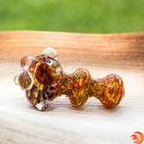 Our online smokeshop is proud to offer knobby & thick glass pipes with green, yellow & red confetti.