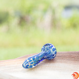 """The 4"""" blue handpipe from Atomic Blaze Smoke Shop will get you rocking with the motion of the ocean...while you're on the couch!"""