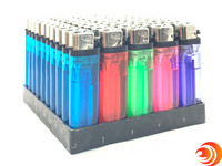 There are multiple clear-colored Blink Lighters that can be bought in bulk at the Atomic Blaze online smoke shop, located in Sarasota, FL.