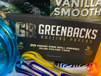 Greenbacks rolling papers, Twisted Hemp Wraps and more will keep you blazed with the Me Time Box.