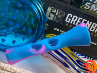 The silicone chillum that's inside your The Blazers Box by Me Time Box from our online smoke shop, protects fingers.