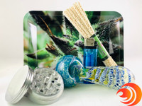 Save your money on essential smoke items like a metal grinder, pipe cleaners, a triple blown glass spoon pipe, blink lighter and more.