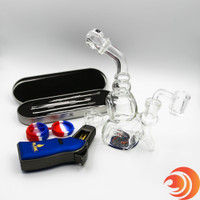With a Blink Torch, silicone container, quartz banger, slide & a convertible rig, you're set for a sesh with this dab kit bundle with torch at Atomic Blaze
