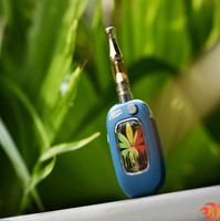 This blue U-KEY special edition with a colored leaf gives your variable vape battery more personal feel. This ships free at Atomicblaze smokeshop online!