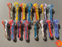 Atomic Blaze Smoke Shop does have glass pipes with color swirls for clearance sales on our online smoke shop.